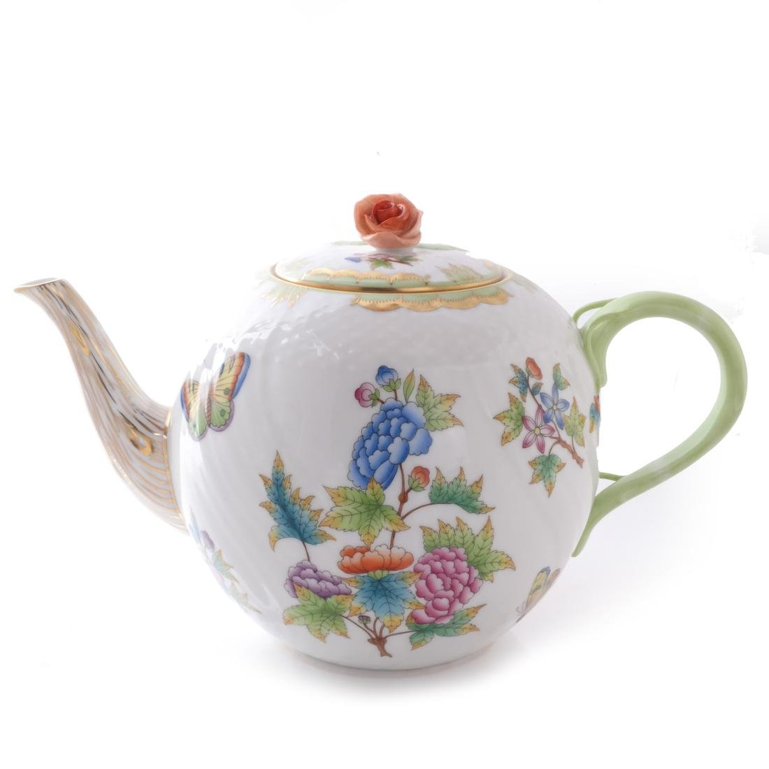 Five Herend Porcelain Tea Articles - 3