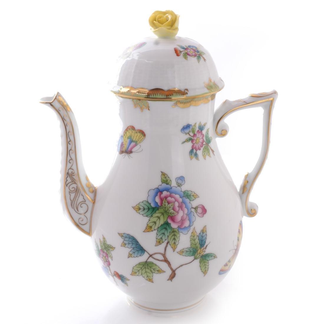Five Herend Porcelain Tea Articles - 5