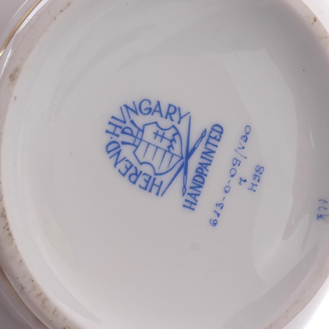 Five Herend Porcelain Tea Articles - 6