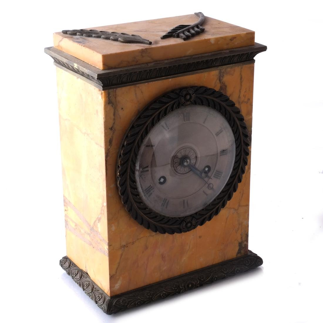 Antique French Marble Mantel Clock