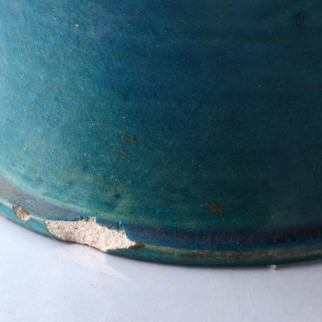 Chinese Ceramic Jar, Turquoise Colored - 3