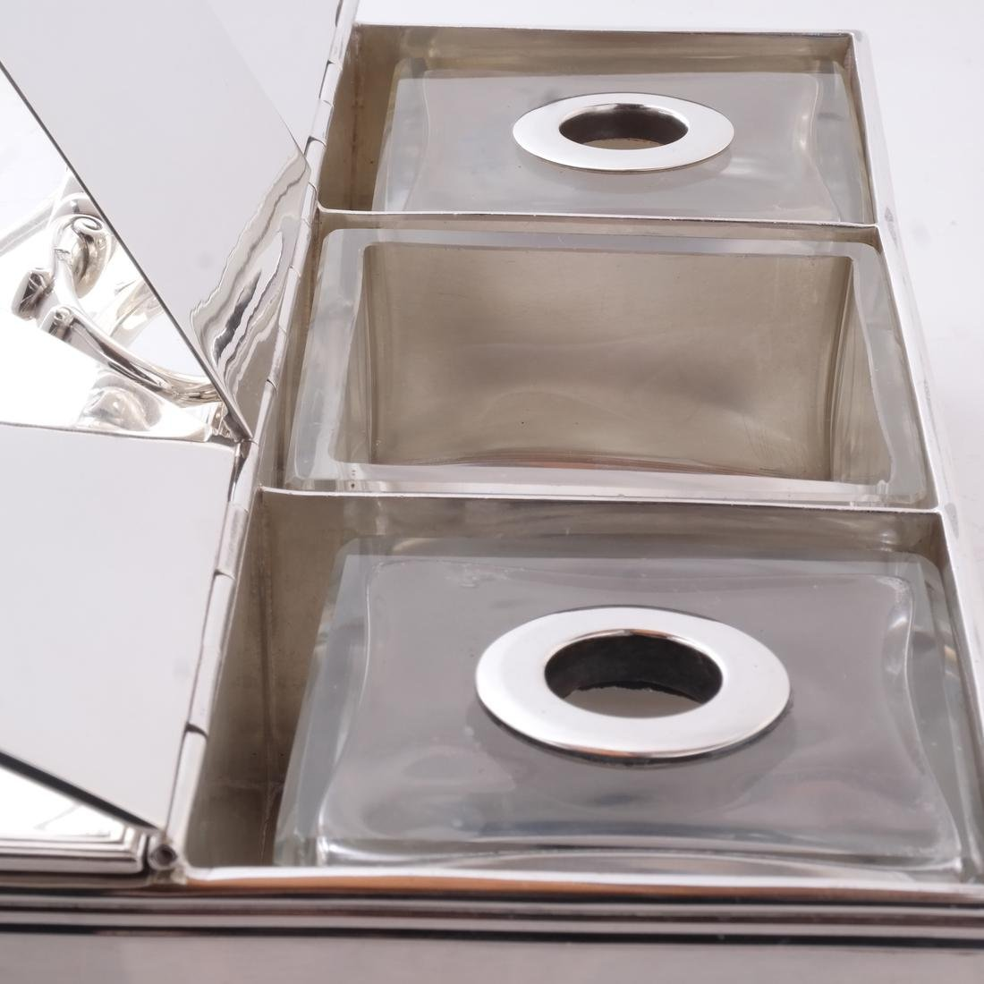 English Silver Inkwell - 5