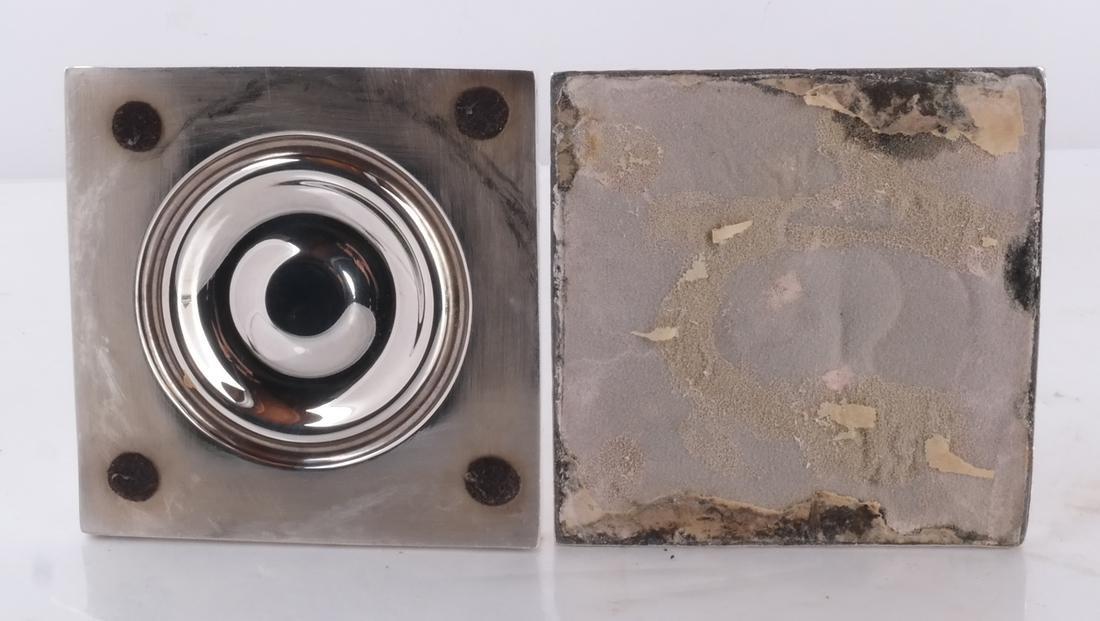 Set of 4 Silver 19th C. English Candlesticks - 5