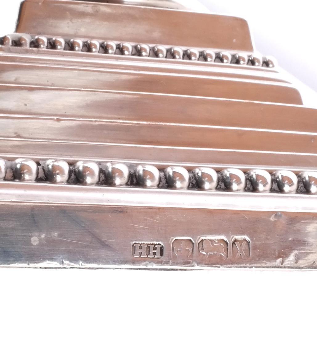 Set of 4 Silver 19th C. English Candlesticks - 6