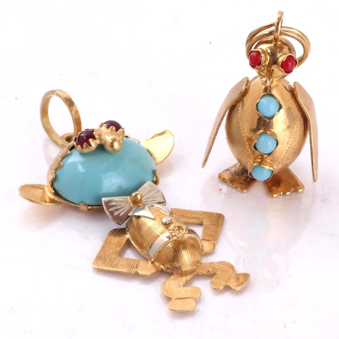 18k Charms, Lot of 2