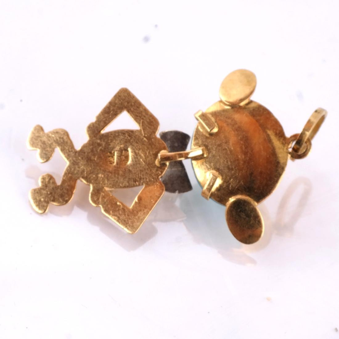 18k Charms, Lot of 2 - 3