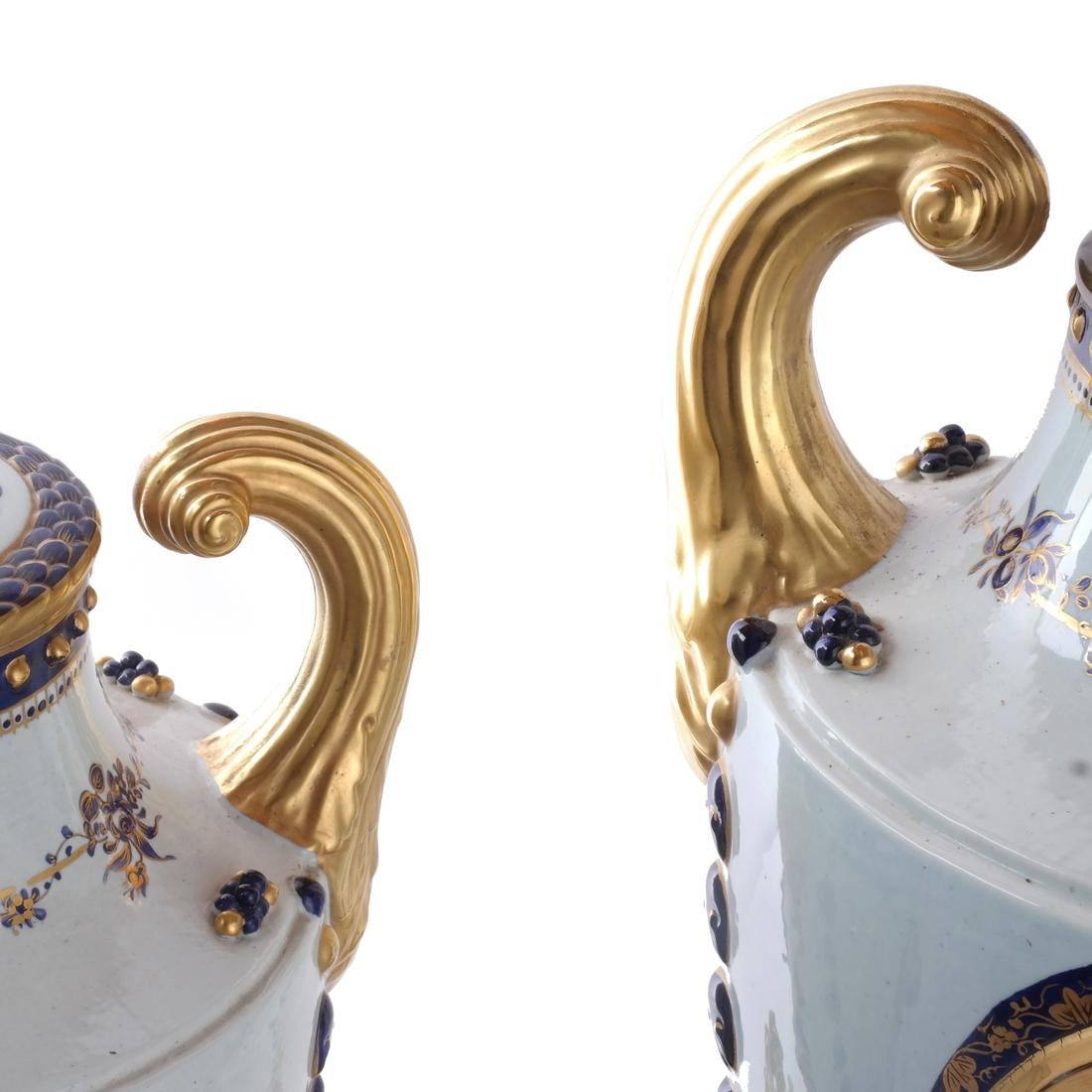 Pair Chinese Export Porcelain Lamps - 4