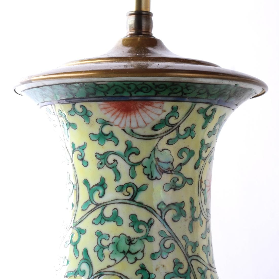 Chinese Porcelain Pair of Table Lamps - 3