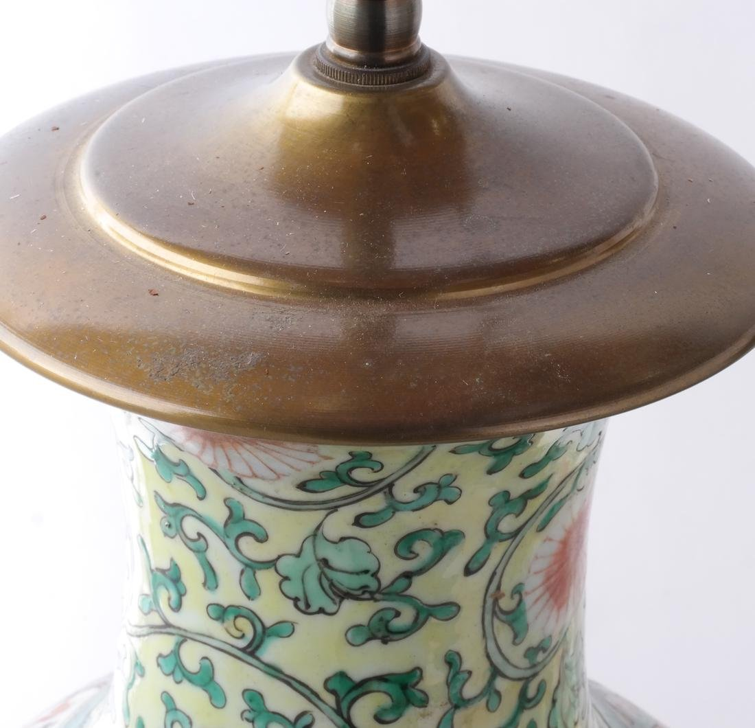 Chinese Porcelain Pair of Table Lamps - 5