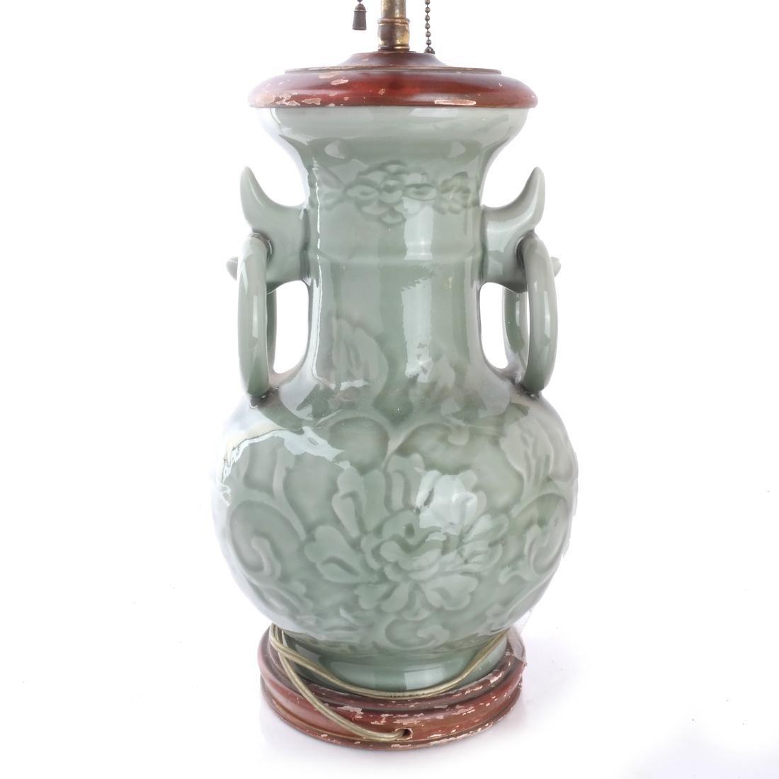 Chinese Porcelain Carved Vase/Lamp