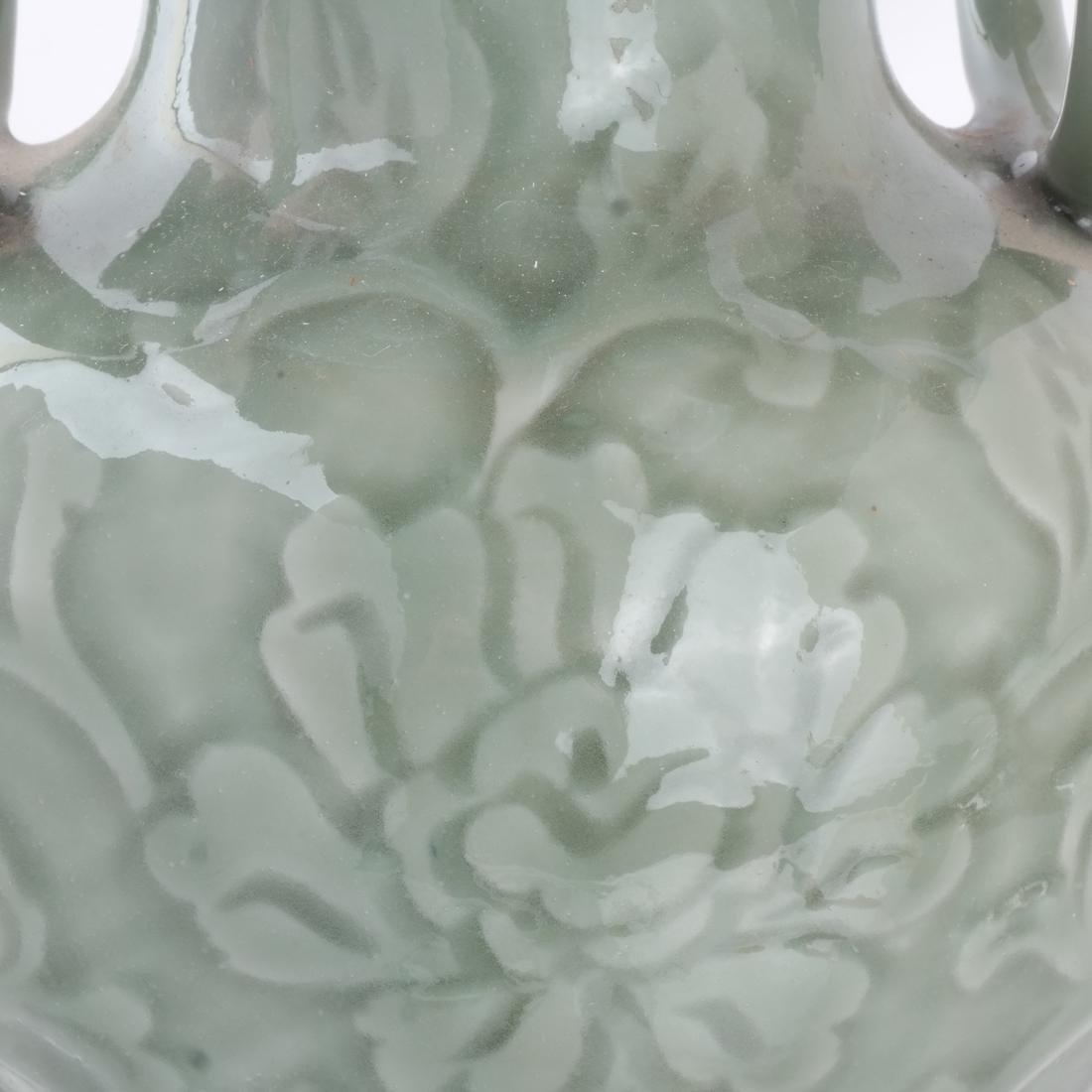 Chinese Porcelain Carved Vase/Lamp - 2