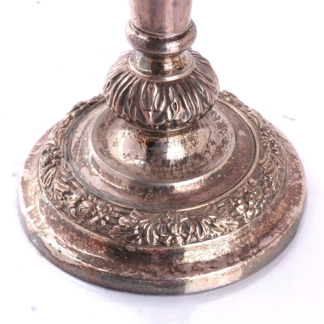 Victorian Silver Plate Candelabra - 3