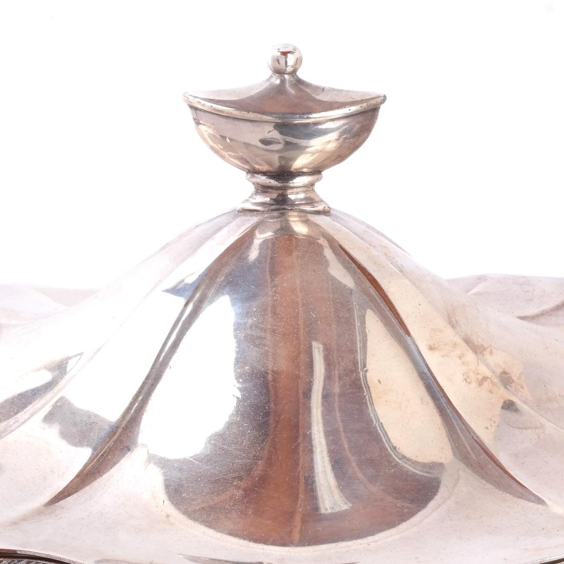 Silver Plate Soup Tureen & Cover - 3