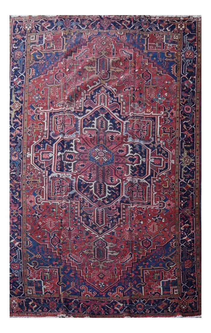 Antique Iranian Heriz Carpet, 9 x 12