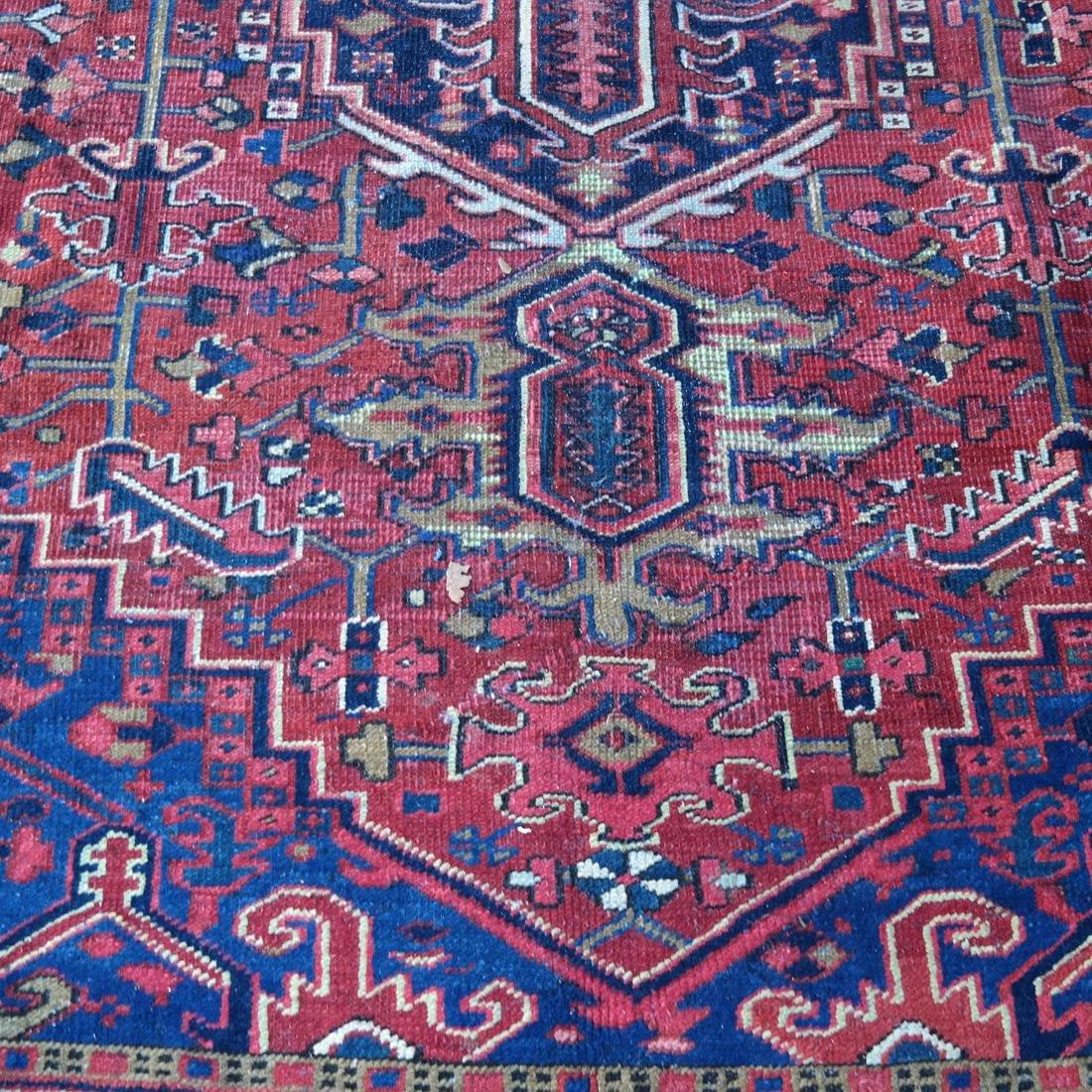 Antique Iranian Heriz Carpet, 9 x 12 - 3