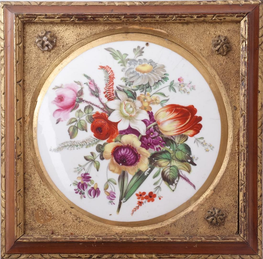 English Early 19th C. Porcelain Plaque