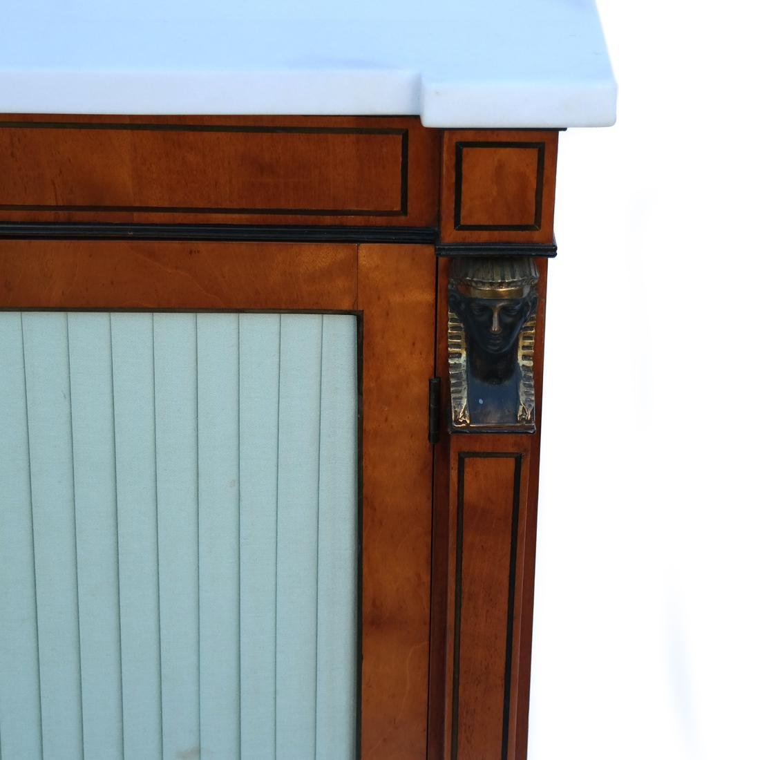 Marble Top Empire Cabinet - 2
