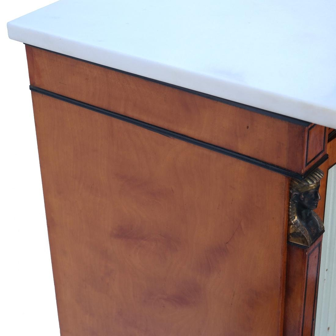 Marble Top Empire Cabinet - 6