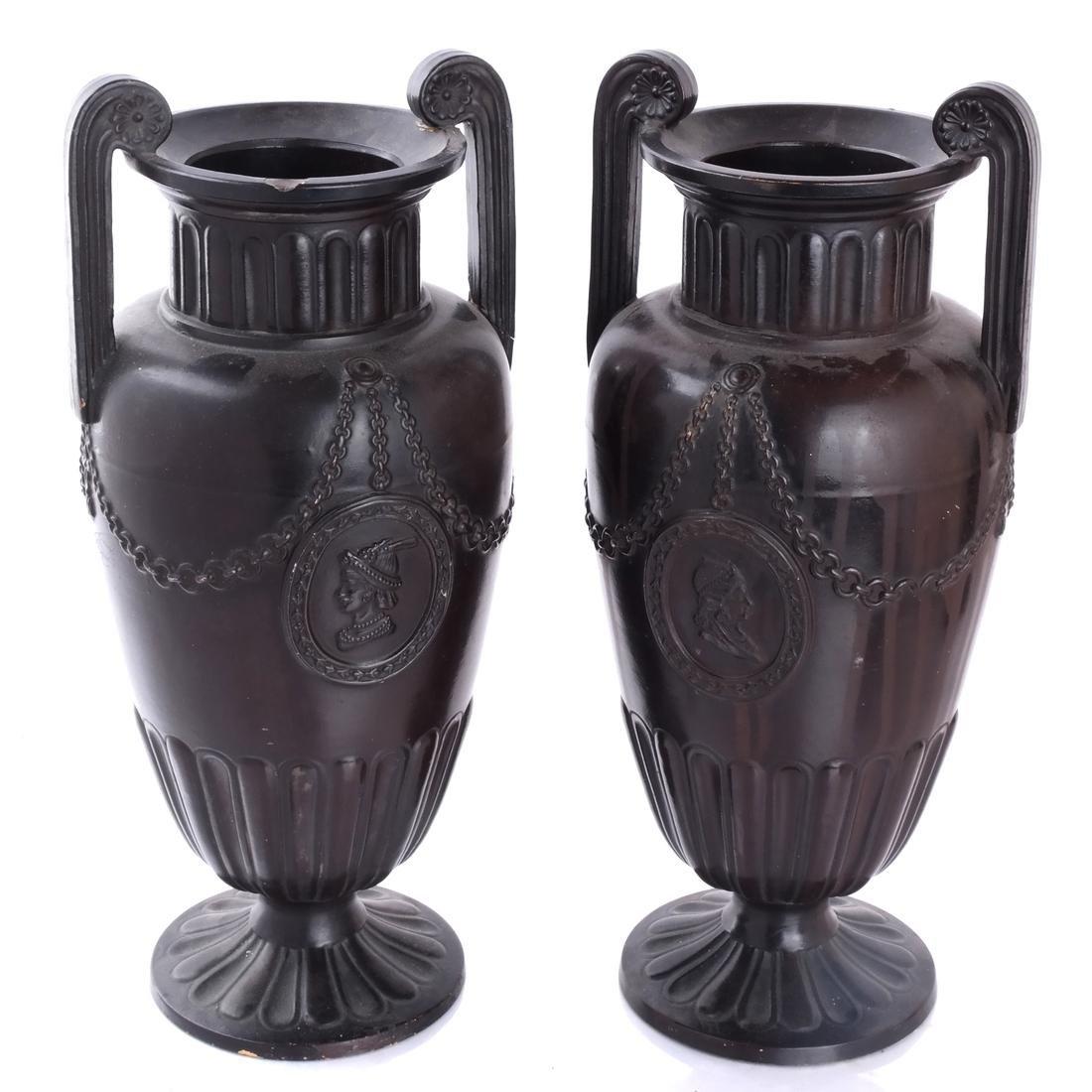 Pair of Classical Style Ceramic Urns
