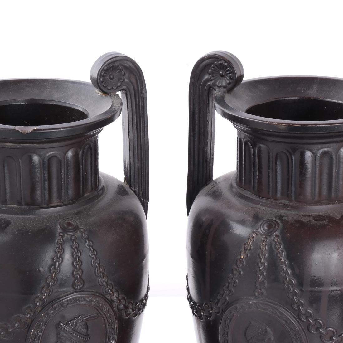 Pair of Classical Style Ceramic Urns - 2