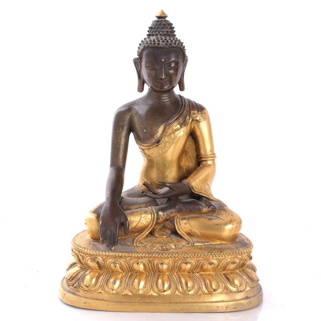 North Indian/Tibetan Bronze Buddha