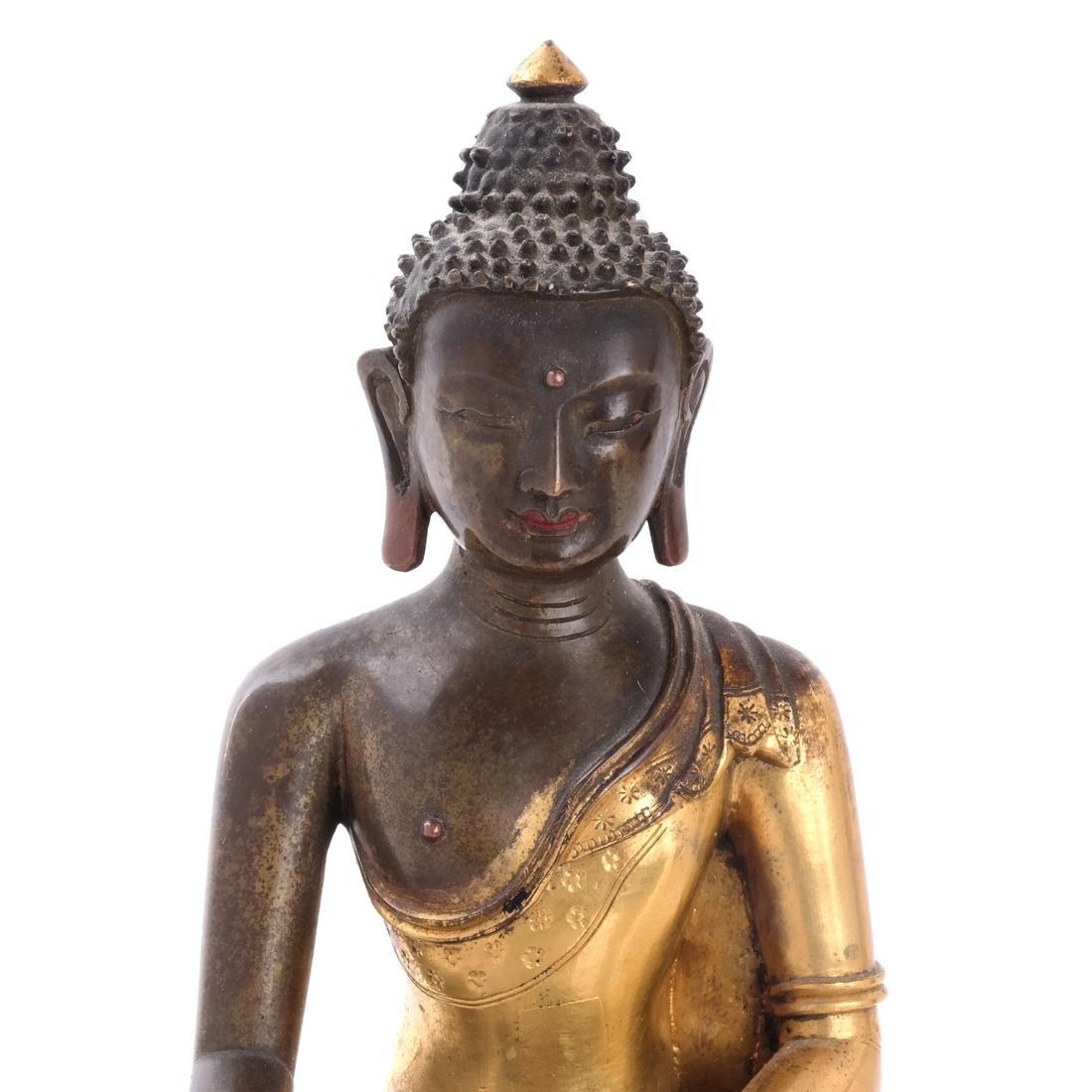 North Indian/Tibetan Bronze Buddha - 2