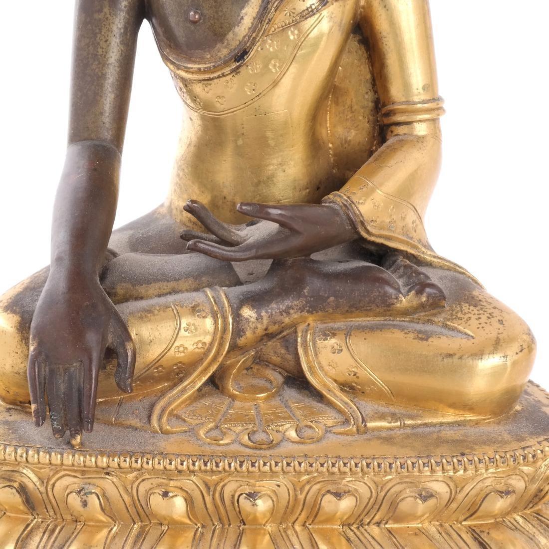North Indian/Tibetan Bronze Buddha - 3