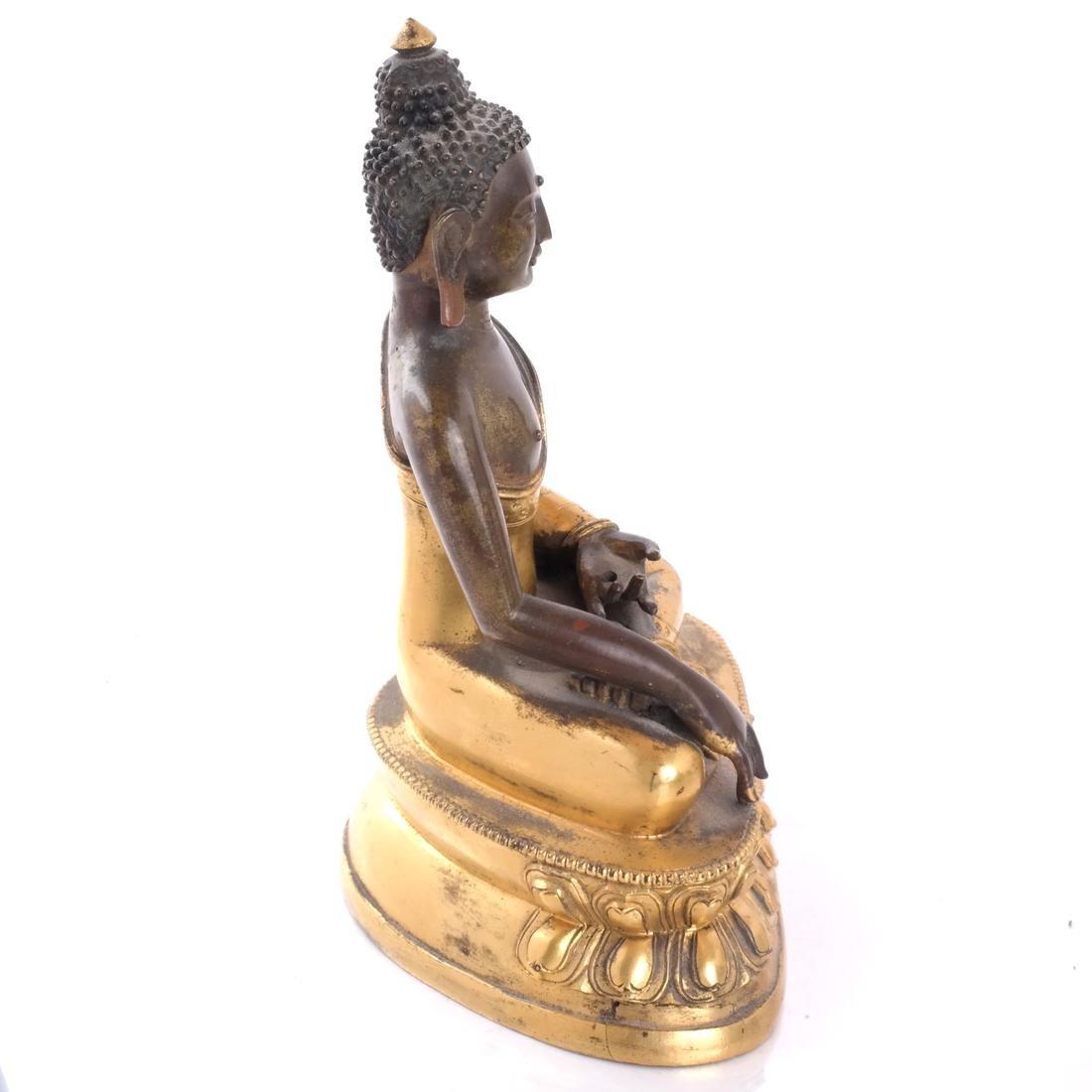 North Indian/Tibetan Bronze Buddha - 6