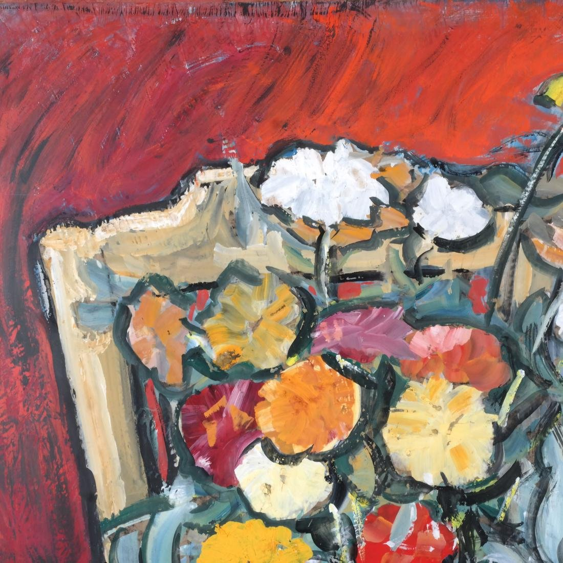 Still Life With Flowers, Gouache - 3