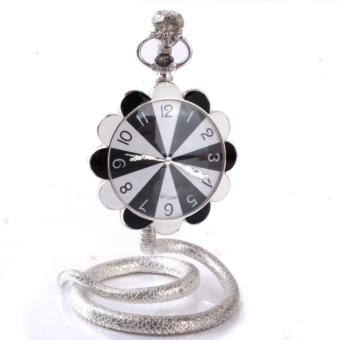 Erte: Pocket Watch & Stand, Silver - 2