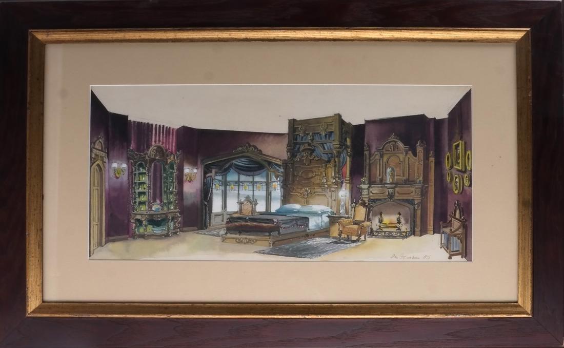 Interior Room Scene, Watercolor - 2