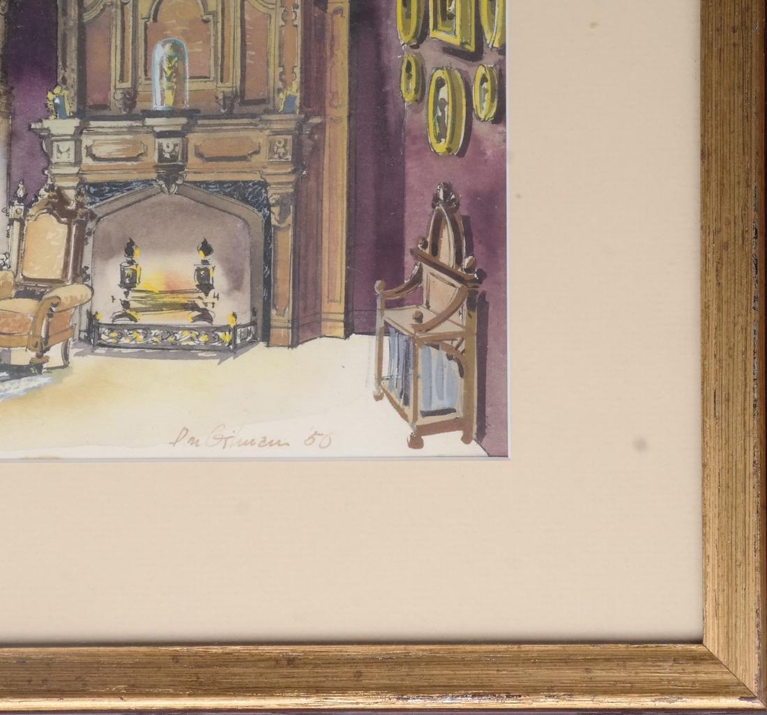Interior Room Scene, Watercolor - 3
