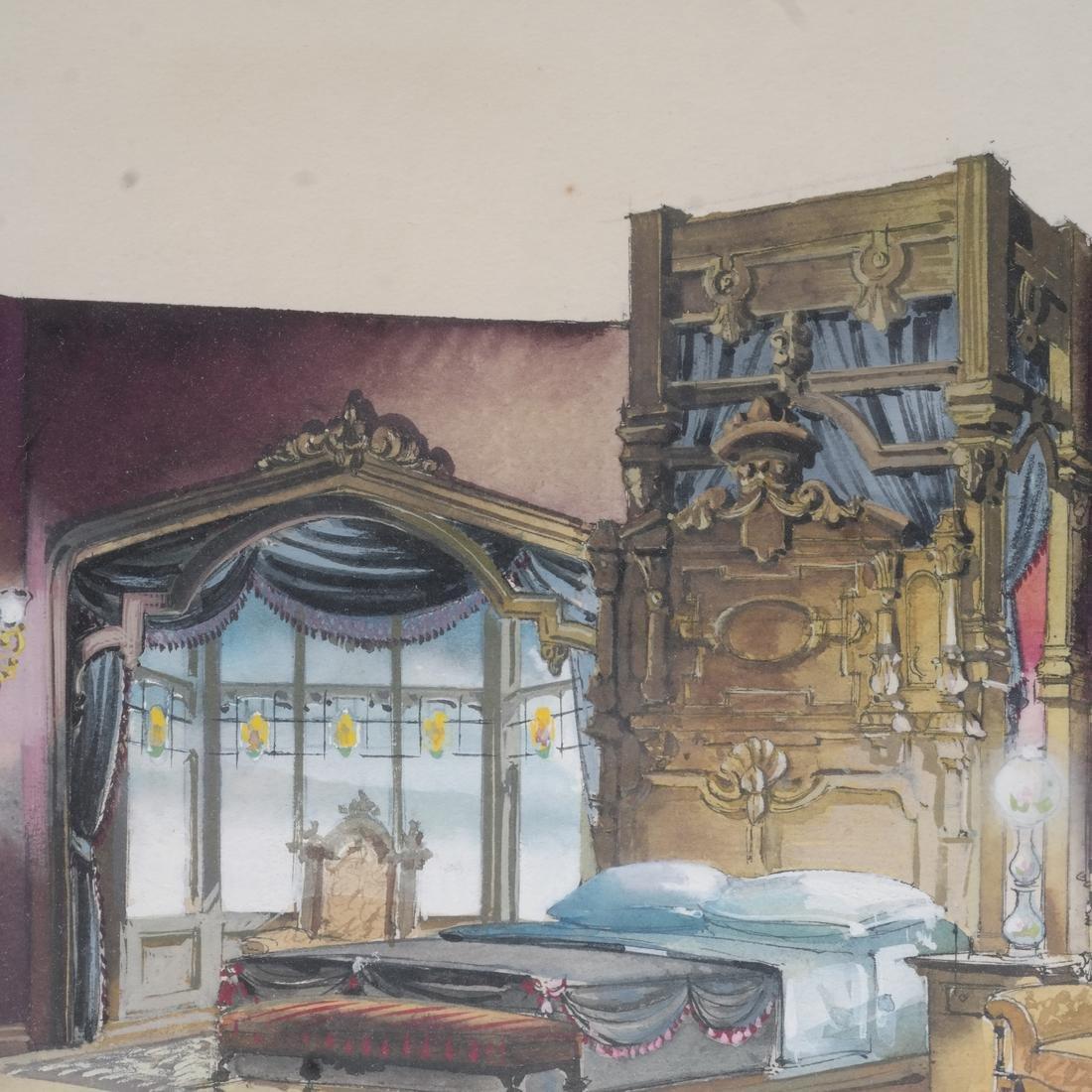 Interior Room Scene, Watercolor - 4