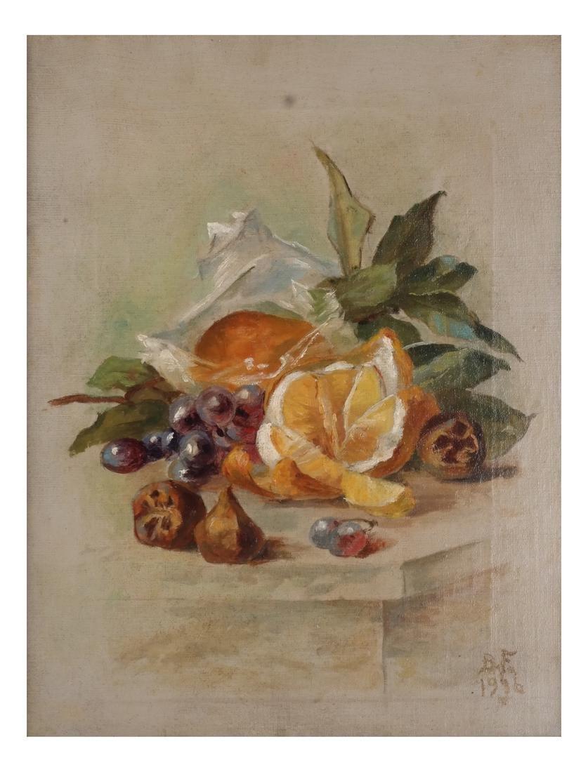 M. Fox & B.F.: Still Lifes w/ Fruit - O/C - 2