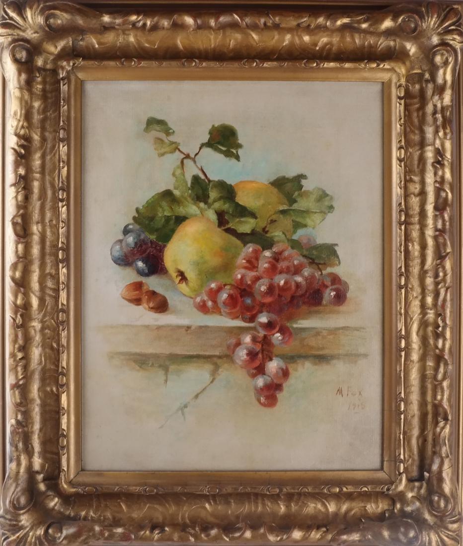 M. Fox & B.F.: Still Lifes w/ Fruit - O/C - 5