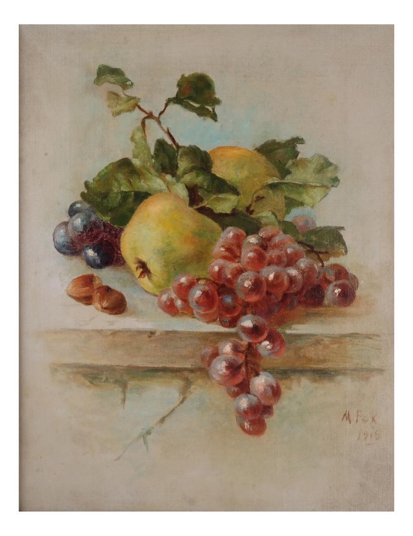 M. Fox & B.F.: Still Lifes w/ Fruit - O/C - 6