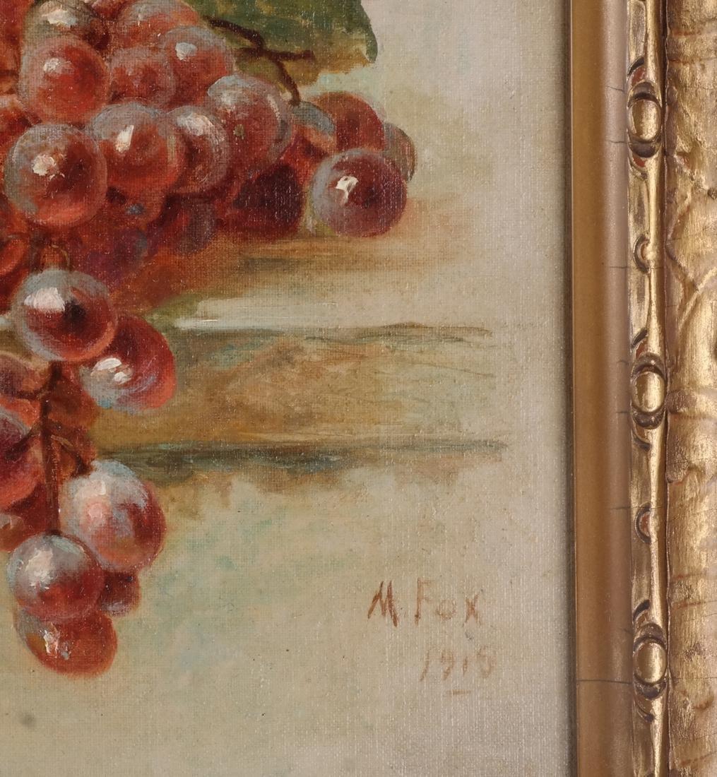 M. Fox & B.F.: Still Lifes w/ Fruit - O/C - 7