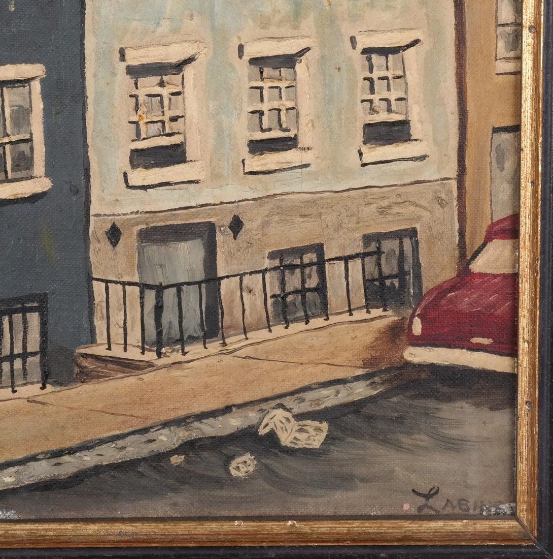 Clem Labine: Manhattan Townhouse - Oil on Board - 3