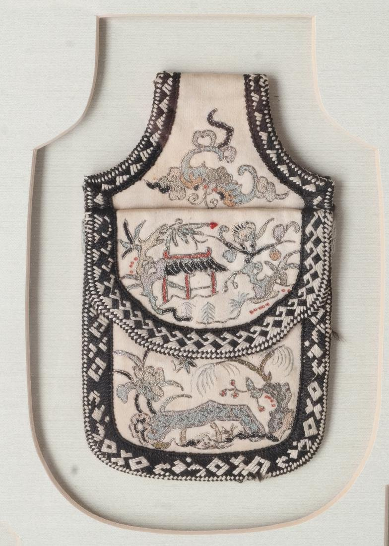 Three Framed Asian Pouches, Textile - 4