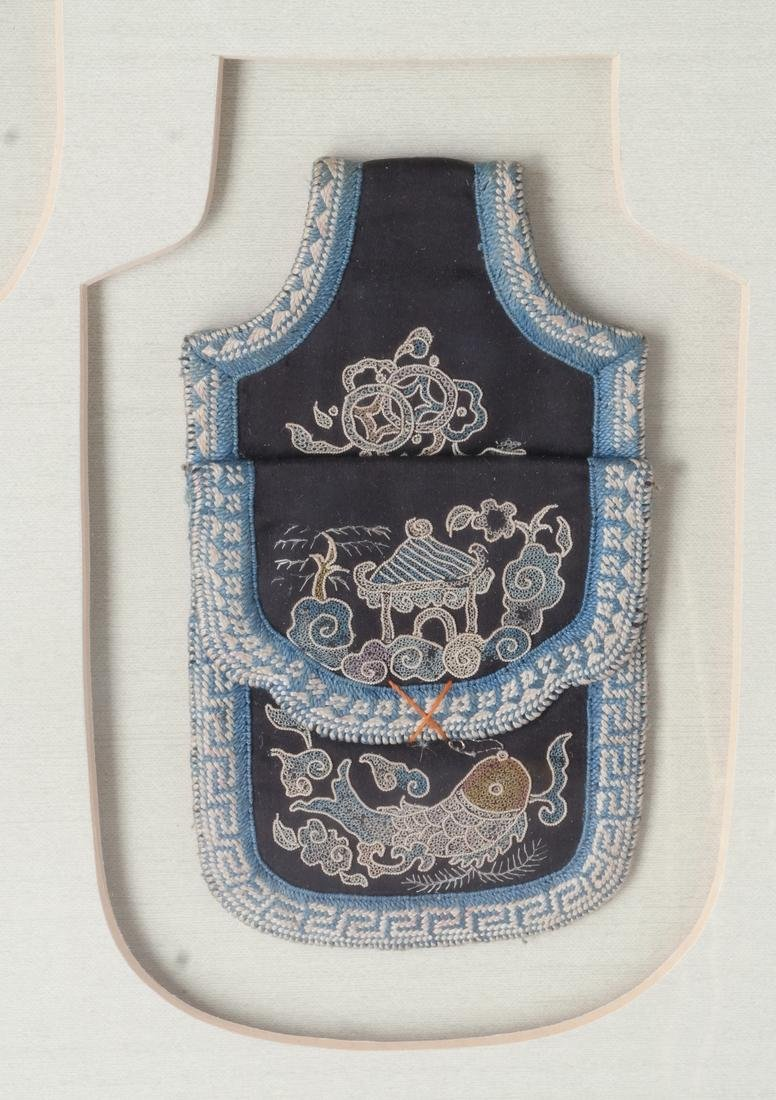 Three Framed Asian Pouches, Textile - 5