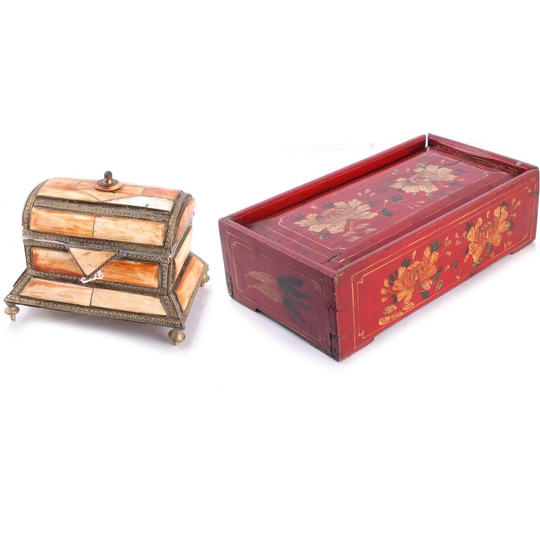 Red Floral Box & Dome Box