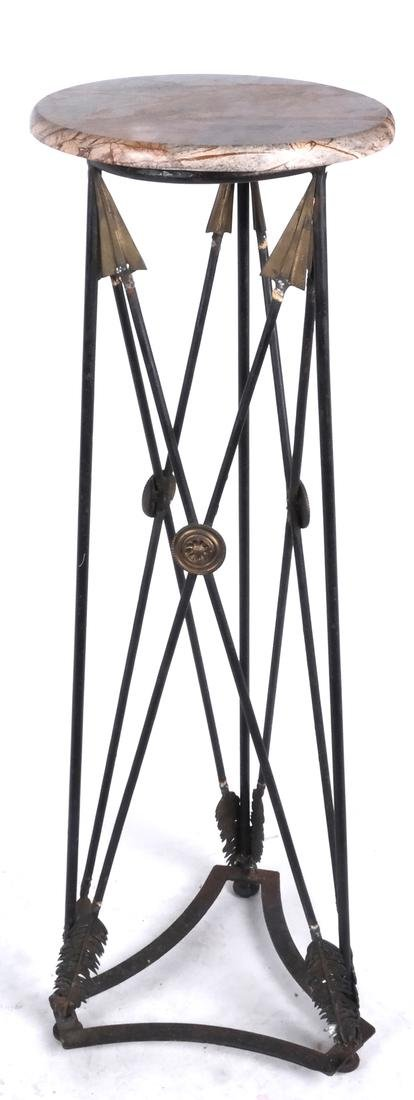 Classical Iron Arrow-Form Fern Stand