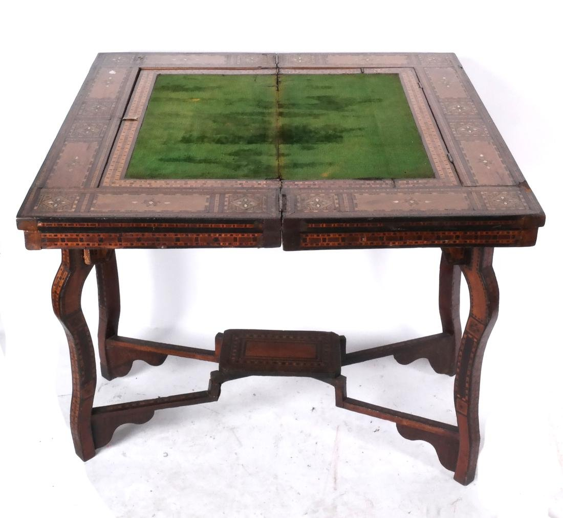 Antique Moroccan-Syrian Games Table - 2