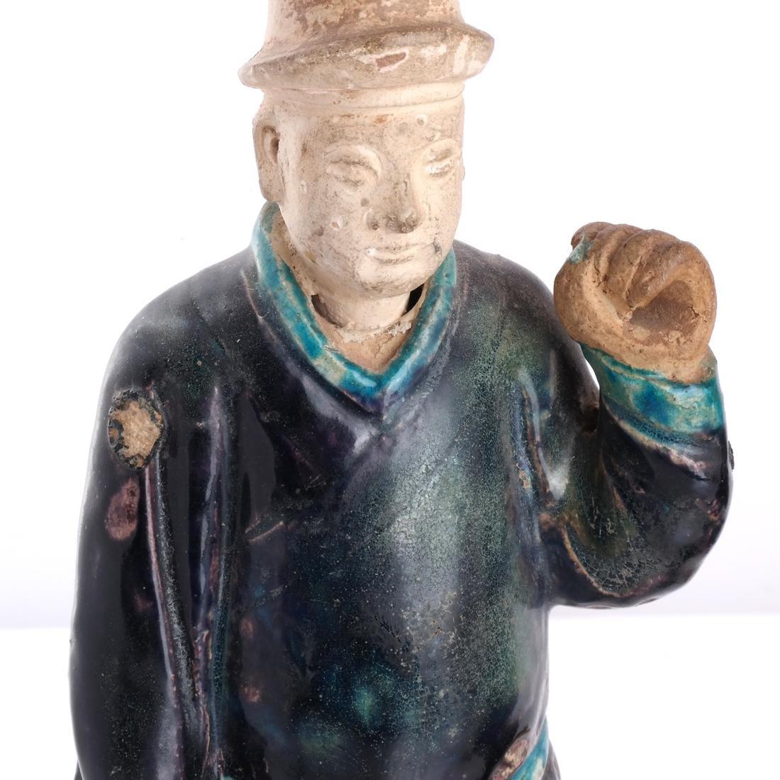 Pair Chinese Figural Ceramic Lamps - 3