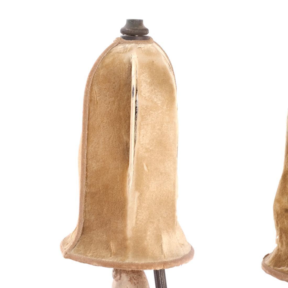 Pair Chinese Figural Ceramic Lamps - 6