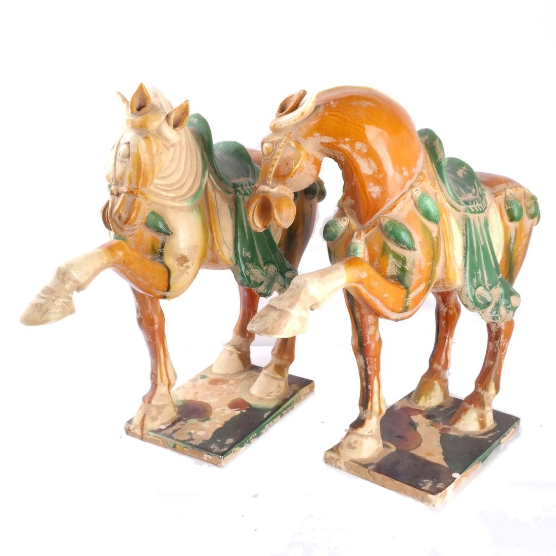 "Pair of Tang-Style Horses, ""As-Is"""