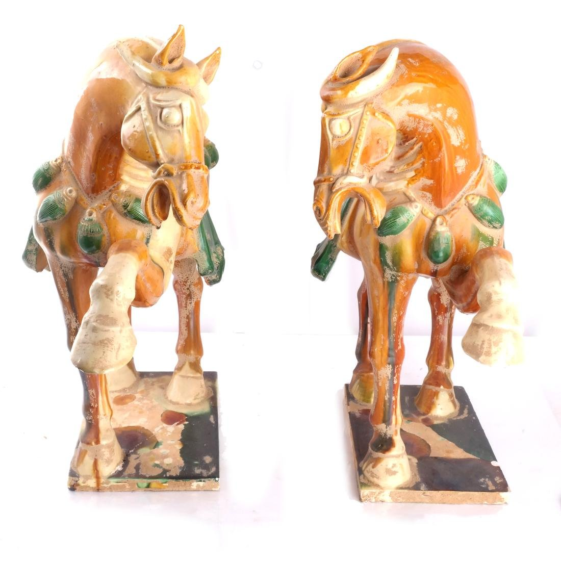 "Pair of Tang-Style Horses, ""As-Is"" - 2"