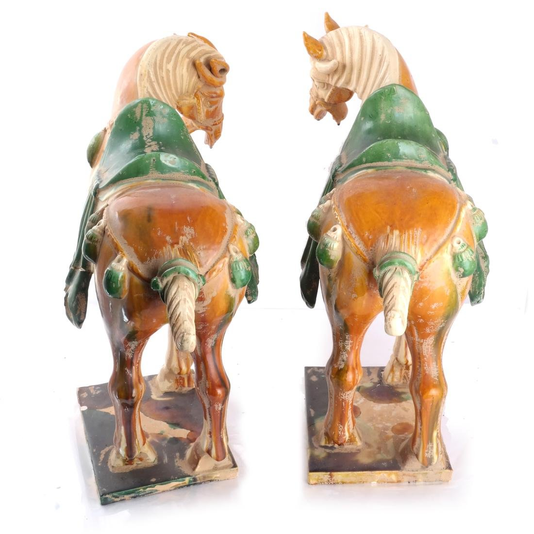 "Pair of Tang-Style Horses, ""As-Is"" - 5"
