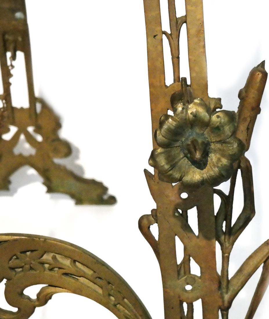 Art Nouveau Bronze Easel - 4