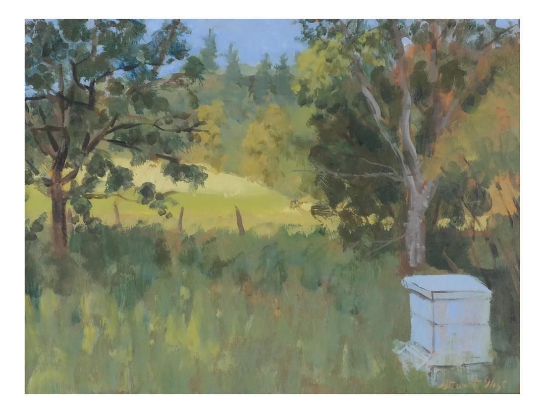 Edith Stewart Hoyt: Landscape - Oil